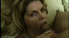 Appetizing babe with trimmed kitty is deepthroated by vicious lover