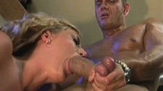Nasty blonde Avy Scott gets her snatch fingered and fucked in the lab