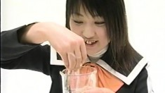 Hot Japanese teens expose their bodies and reveal their lust for semen