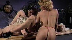 Kaitlyn Ashley is joined by two striking girls for a hot lesbian orgy