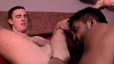 Lucky JP Dubois gets to play with Dominic Pacifico's hard dick