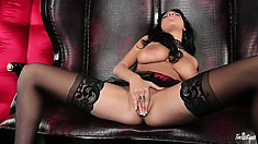 Big nipples of a dark-haired sex priestess are so fucking amazing