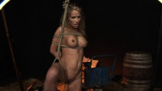Kinky bondage fetishist with big hooters Vivian loves rough anal sex