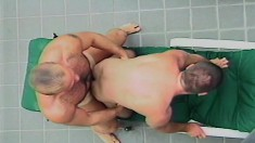 Gay studs lick ass and suck dick before getting some ass fucking done