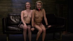 Marina Angel and Riley Ray get down and dirty with nasty S&M