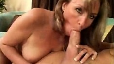 Blonde Russian With Big Boobs Sucks Her Mans Cock