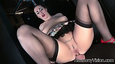 The hot babe enjoys intense pleasure riding that dick and taking it deep from behind