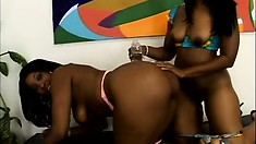 Sweet oiled ass of hot girl Cherokee gets slapped by Angel Eyes