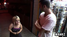 Midget Stella Marie meets a dude and wants to take him home to play