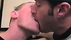 These three studs start things off by making out nice and sweet