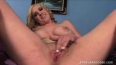 Blake Lovely finally convinces her step-brother to fuck her until she cums
