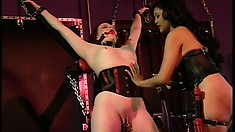 Gentle and tender mistress loves seeing her victims cumming hard