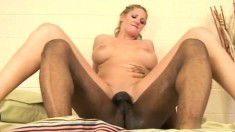 Feisty blonde Zoe Holiday can't wait to feel every inch of this dick
