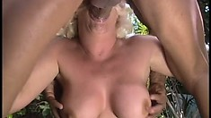 Calli Cox, a busty blonde with a marvelous ass, gets her fiery pussy banged hard