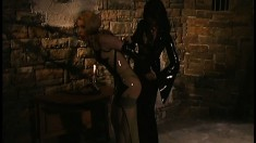 Poor little slave gets bound and has to take her sexy punishment