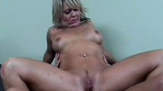 Bonny blonde with fat ass Chennin Blanc gets her mature ass fucked