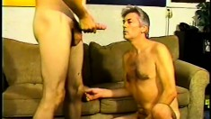 Older gay has a nice, gifted boy to suck and fuck, then they jerk off