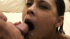 Wild college babe with small tits invites two guys to properly stretch her holes