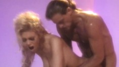 Smoking hot blonde can't get enough of this rock-hard love muscle