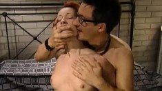 Hot red-haired Tanya spreads her legs and begs to get nailed