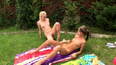 Outdoor Lesbian Toying Teen Cuties
