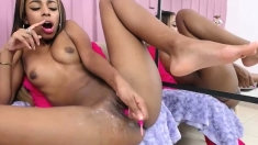 Jerk Your Dick For Ebony Schoolgirl Ayanna