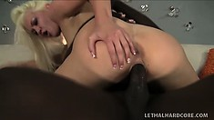 Whitney sticks that hard black prick in her snatch and rides it with pure excitement