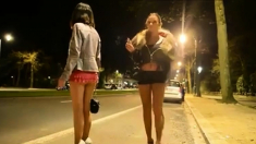 Street Hookers At Their Usual Job