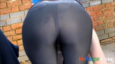 Bent Over Teen Shows All She Has Got