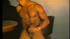 Cum-drinking ebony amateur gets his tight cumhole plowed by two studs