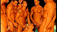 Claudio and his big gay friends are doing a very explicit sex film
