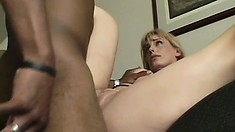 Cock hungry MILF can't get enough of his massive black member