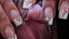 Ebony whore blows his rod, shows her pink slit and gets pumped hard